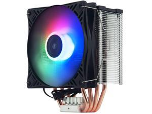 Pccooler X4S CPU Cooler Silent CPU PWM 120mm RGB Fan 4 Continuous Direct Contact Heatpipes for TNTEL/AMD CPU(AM4 Compatible)