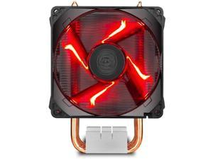 Cooler Master Hyper H410R (RR-H410-20PK-R1) 120mm RED LED Air CPU Cooler Intel/AMD Support,with 4 Heat Pipes ,Red LED PWM Fan