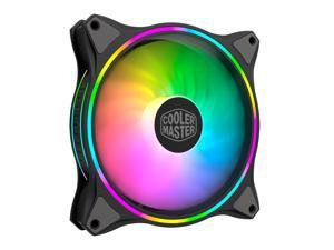 Cooler Master MasterFan MF140 Halo Duo-Ring Addressable RGB Lighting 140mm Fan , Absorbing Rubber Pads, PWM Static Pressure for 5V 3-Pin ARGB ,NOT work with 4-pin RGB or Standard RGB+12V