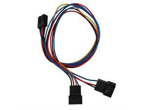 10PCS/lot,Computer PC Motherboard Fan Cooling 4 Pin to 2x 3pin/4pin PWM Extension Adapter Cable (30cm)