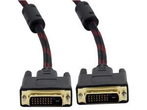 TeKit 6ft/1.8m DVI Male to Male  Extension Cable with Digital Dual-link For PC HDTV Monitor LCD Computer Laptop