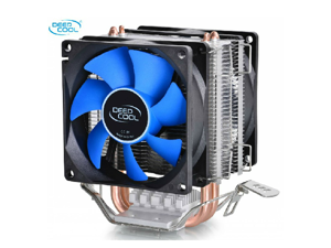 Dual 8cm fan 2 heatpipes,tower side-blown,Intel LGA775/1155/1156,AMD 754/939AM2/AM2+/AM3 FM1/FM2, cpu radiator,CPU dual FAN,CPU cooler