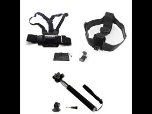 Chest Harness & Head Strap Mount & Monopod Tripod Adapter Gopro HD Hero 1 2 3 3+