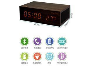 TeKit Wooden Bluetooth Speaker, Alarm Clock, Support NFC+CRS for iphone ipad