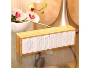 BamBox Bamboo Bluetooth Speaker with LED Time, Alarm Clock+FM Radio+Hands-Free Support NFC