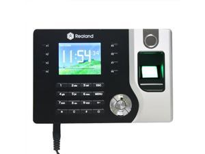 Realand Biometric Fingerprint Attendance Time Clock + Id Card Reader + Tcp/ip + Usb NEW