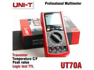 UNI-T UT70A LCD Digital Multimeter Volt Amp Ohm Temp Capacitance Inductance