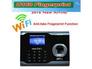 New Zk Bio Office U160 Employee Entry Biometric Fingerprint Time Attendance System Punch Clock 3 Inches Color TFT Screen TCP/IP Ethernet Ports USB-Device RS232/485 Communication, Store 3200 Fi