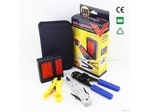 NOYAFA Network tool kit Wire stripper & network cable tester & RJ45 Crimping tool & punch Down Tool,Network Toolkit Cable Tester + Punch Down + RJ45 Plug Crimp Tool NF-1201