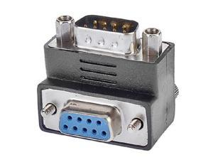 DB9 Male to Female Adapter 90 Degree Downward,  Right Angled 90 degree D-Sub DSUB RS232 9Pin DB9 Male  To Female  extension Adapter,RS232 female to male converter adapter