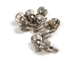 100pcs  New Computer Case Thumb Screws silver Size:6# 32X5mms ,Carbon C1010 Thumb Screws Tool-Free PC Computer Case