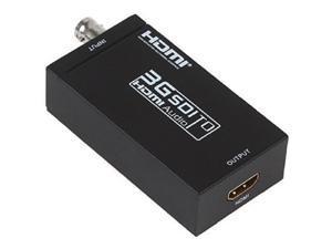 SDI to HDMI Converter Box,HD 1080P 3G SDI to HDMI Audio Converter Box Adapter Distributor Support SD-SDI, HD-SDI and 3G-SDI Signals Showing on HDMI Display(AY30)