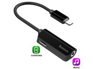 Lightning to 3.5 mm Headphone Jack Adapter for Apple iPhone 7/7 Plus Adapter Charge and Headphone 2 in 1 Compatible with iOS 11 .For Charging & listening Music ONLY