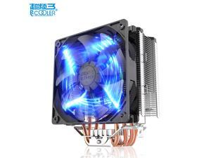 Pccooler X5 Pure Copper 5 Heatpipe CPU Cooler Radiator 12cm/120mm Blue LED 4pin PWM queit for Intel 775 1151 1155 1150 1156 AMD AM4 CPU cooler Smart fan radiator