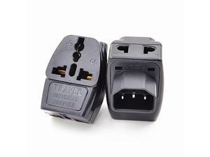 IEC320 C14 to Universal power socket,3 in 1 Universal Black Copper 10A 250V Standart IEC320 C14 UPS PDU APC chassis cabinet computer power adapter plug convert socket