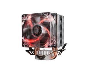 PcCooler Dazzle light  LED S80 CPU Cooler Radiator 80mm 2 Heatpipes Dazzle light Fan for intel775 1150 1151 1155 1156 for AMD754 AM2 AM2+ AM3 8cm  CPU Radiator Cooler Heat Sink
