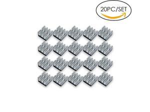 20 PCS mini Aluminum Chips VGA RAM Cooling Heatsinks heat sink cooler,Aluminum Heatsink For MOS IC Chipset 6.35mm*6.35mm*3.18mm Chip Radiator
