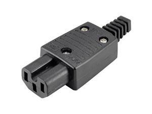 (5 Pack) IEC320 C15 Female Outlet Socket Power Adapter Connector AC 250V 10A,IEC C15 Female Rewirable Connector DIY C15 Power Plug Black Plastic