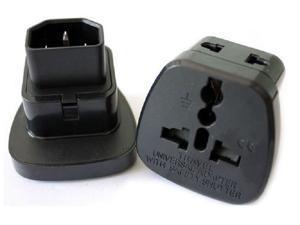 (2 Pack) Tekit IEC C14 to Universal Female AU US UK EU C13 Safe Socket Power Adapter AC Plug,Power Adapter Black Female Socket To Pro IEC 320 PDU UPS C14 Plug Power Adapter Converter Universal socket