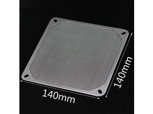 (2 Pack)   140mm Aluminum Dustproof Cover Dust Filter For PC Computer Cooling Chassis Fan,14cm X14cm PC Computer Fan Cooling Dustproof Dust Filter Mesh Strainer Case Aluminum