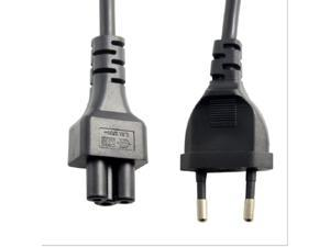 European EU 2pin Male Plug to IEC 320 C5 Micky Adapter Cable For Notebook Power Supply,Power cord EU 2Pin Male to IEC 320 C5 Micky  for PDU UPS (30cm/1ft)