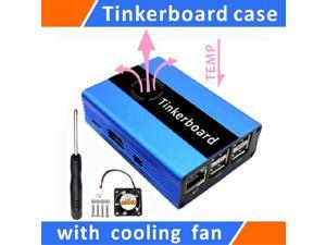 Tinker board Case Aluminum With Cooling Fan Blue for ASUS SBC,Case for Tinker Board,Tinker board aluminum alloy case,Tinker board Case Aluminum With fan