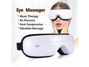 Eye Massager , Cordless Eye Massager Music Therapy Stress Relief Machine with Air pressure,Heat Compression, Vibration Massage and 5Modes for Dry Eye Relax Vision Care Eyestrain Stress Relief Eye C