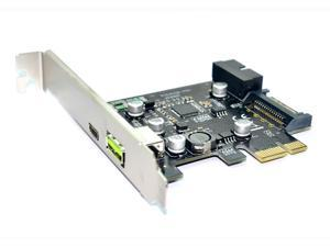 PCI-e To USB3.1 Type-C Expansion Card PCIe To USB 2.4A Fast Charge + 19PIN Front USB Riser Card