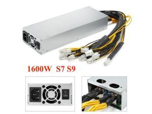Tekit New Version 92% Platinum 1600W Mining Power Supply For Antminer Miner S9 S7 APW3 L3+ D3 AC 200~240 V,Professional mining machine power supply