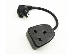 AU Australia 3 Pin Male to UK British Standard Female Socket Cord cable,CN 3-Pin to UK 3Pin Female Socket,13A/250V