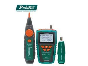 Pro'sKit MT-7071 Cable Tester Break Hunt Check Line Device LCD Network Cable Length Tester Detector Tracker Wire Fault Locator