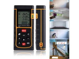 262ft/80m  Handheld Laser Rangefinder 80m Distance Meter trena laser Digital Range Finder build laser tape measure tools ,80M Handheld Large LCD with Backlight Distance Meter Range E80