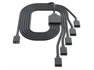 Cooler Master 1-to-5 ARGB Splitter Cable / 5V - Support 3-pin Addressable RGB - LED Sync Cable for MasterFan/MasterLiquid ARGB Series Support, Ships from United States
