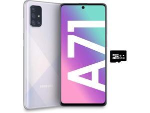 Samsung Galaxy A71 SM-A715F/DS 4G LTE 128GB/6GB Ram Android, Prism Crush Silver-