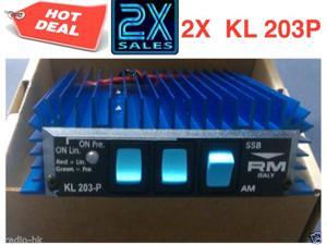 2x RM Italy KL 203P  Mobile Linear Amplifier