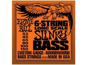 Ernie Ball 2838 Long Scale Slinky Bass Electric Bass 6 String Set (32-130)