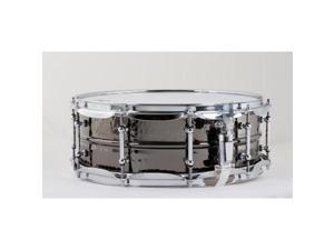 "Ludwig Black Beauty Snare Drum with Tube Lugs, Hammered - 5"" x 14"""