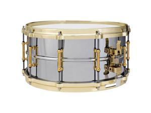 """Ludwig Chrome-over-Brass Supraphonic Snare Drum with Tube Lugs, Brass Plated - 6.5"""" x 14"""""""