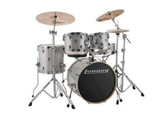 "Ludwig Element Evolution 5-Piece Drum Set with 20"" Bass Drum - White Sparkle"