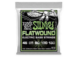 Ernie Ball 2816 Regular Slinky Flatwound Electric Bass Guitar 5-String Set, 45-130