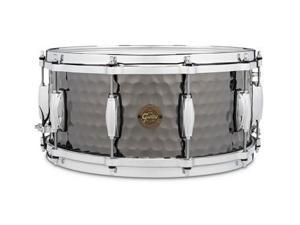 "Gretsch 6.5"" x 14"" Hammered Black Steel Snare"
