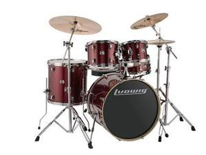 "Ludwig Element Evolution 5-Piece Drum Set with 22"" Bass Drum - Red Sparkle"