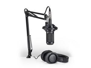 Audio-Technica AT2035 Studio Microphone Pack with ATH-M20x, Boom & XLR Cable