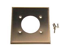 "Aluminum Flush Mount 2.15"" Diameter, Device Receptacle Wallplate, Standard Size"