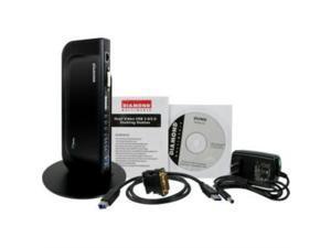 DIAMOND Ultra Dock DS3900V2 Docking Station - for Notebook/Tablet PC/Desktop PC - USB 3.0 - 6 x USB Ports - 4 x USB 2.0 - 2 x USB 3.0 - Network (RJ-45) - HDMI - DVI - Audio Line Out - Microphone - Wi