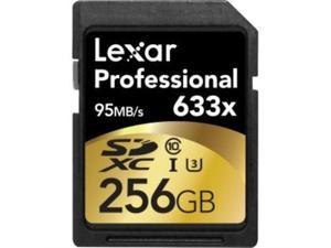 Lexar Professional 256 GB SDXC - Class 10/UHS-I (U3) - 95 MB/s Read - 45 MB/s Write - 633x Memory Speed C10 BL NL - LSD256CBNL633