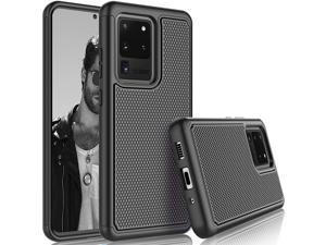 Galaxy S20 Ultra Case, Galaxy S20 Ultra Cute Case, Tekcoo [Tmajor] Shock Absorbing Rubber Silicone Plastic Scratch Resistant Bumper Grip Rugged Sturdy Hard Case Cover for Samsung S20 Ultra [Black]
