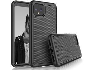 Google Pixel 4 XL Case, 2019 Google Pixel 4XL Cute Case, Tekcoo [Tmajor] Shock Absorbing [Black] Rubber Silicone & Plastic Scratch Resistant Bumper Grip Sturdy Hard Phone Cases Cover