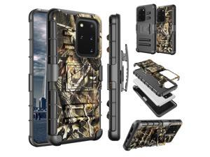 Galaxy S20 Plus Case, Samsung Galaxy S20 Plus Holster Clip, Tinysaturn [Slide] Shock Absorbing Swivel Locking Belt Full Body Defender Kickstand Armor Sturdy Phone Cases Cover For Galaxy S20+ Camo