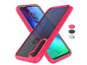 Moto G Stylus Case, Motorola Moto G Stylus Phone Case Shock Absorbing, Tekcoo Rugged Shockproof Crystal Clear Hard Case Body Protective Sturdy Cover TPU Shell Bumper Case for Moto G Stylus, Rose